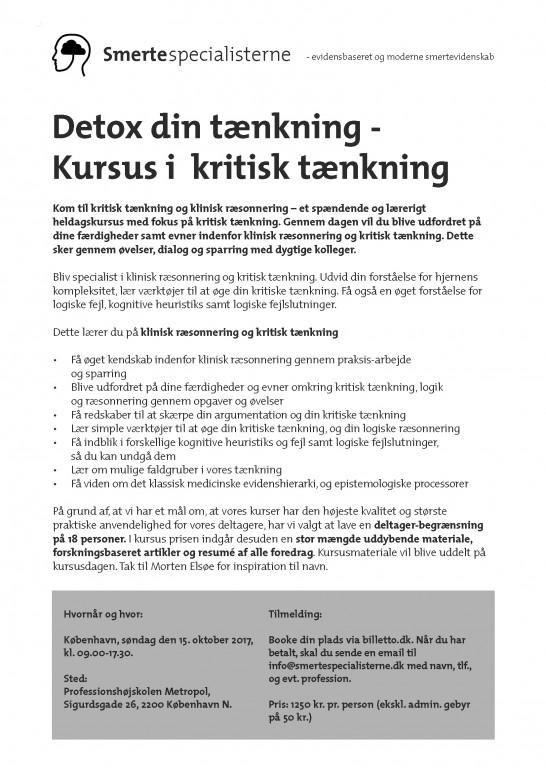 Klinisk ræsonnering og kritisk tænkning (detox)